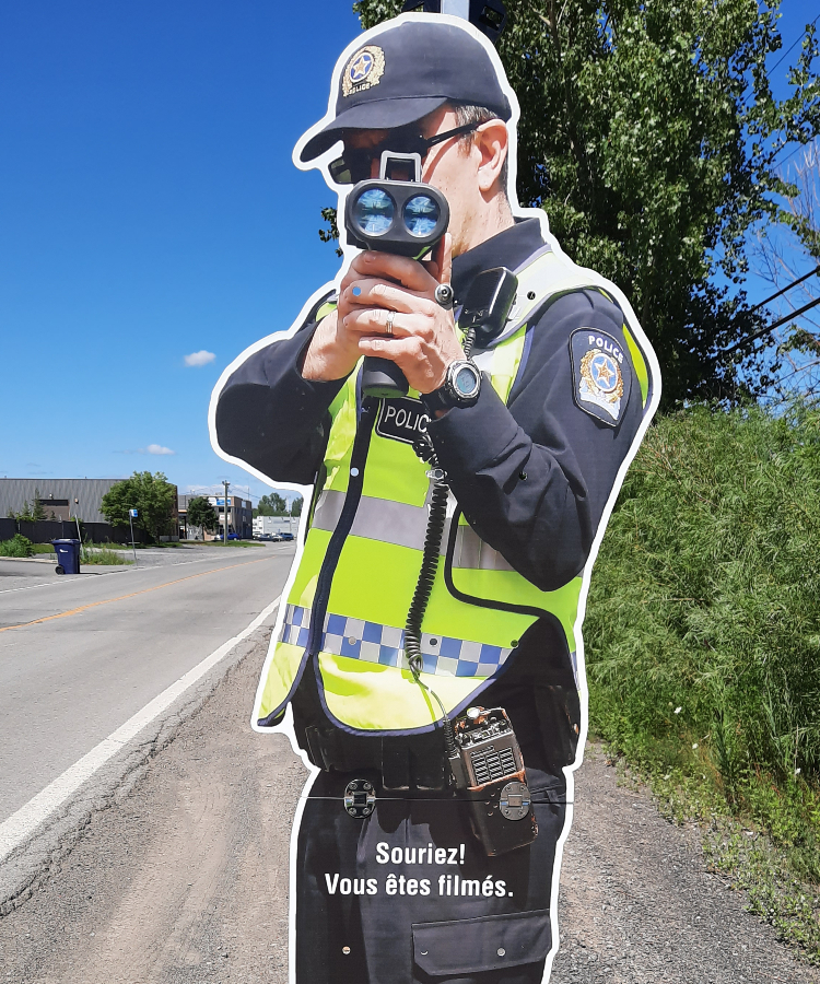 Product - Beacons and delineators - Police Cutout - Kalitec